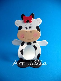 Foam Crafts, Diy And Crafts, Crafts For Kids, Cow Ornaments, Cow Craft, Farm Party, Ideas Para Fiestas, Money Box, Stuffed Animal Patterns