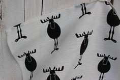 Kitchen Towel with moose linen tea towel white kitchen towel