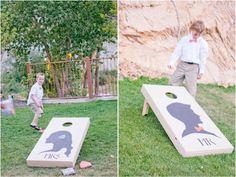 wedding corn hole board