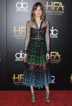 The Best Red Carpet Style at the Hollywood Film Awards: Dakota Johnson, Selena Gomez, Carey Mulligan, and More