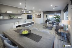 Discover our display homes across Perth & the South West. We've used our location smarts to ensure there's always a new home to explore close to you. Display Homes, Tv Unit, Smart Home, Open Plan, Shelving, Family Room, New Homes, Dining Table, Lounge