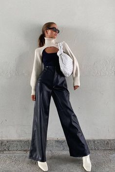 Tumblr Outfits, Mode Outfits, Trendy Outfits, Fashion Outfits, Outfits 2014, Leather Pants Outfit, Black Leather Pants, Moda Streetwear, Streetwear Fashion