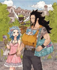 Fairy Tail Gajeel and Levy - Gale Fairy Tail, Fairy Tail Amour, Anime Fairy Tail, Fairy Tail Comics, Fairy Tail Guild, Couples Fairy Tail, Fairy Tail Kids, Fairy Tail Family, Fairy Tail Art