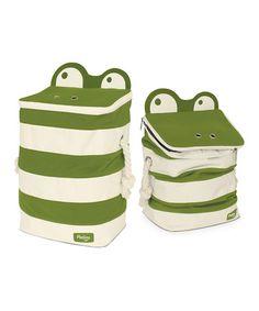 P'kolino Green Monster Storage Bins! SO CUTE! Like little alligators with zipper teeth! Storage ideas for kids room