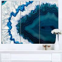 Shop for Designart 'Blue Brazilian Geode' Abstract Canvas Wall Art Print - - 3 Panels - Blue. Get free delivery On EVERYTHING* Overstock - Your Online Art Gallery Destination! Abstract Canvas Wall Art, Acrylic Wall Art, Canvas Art Prints, Diy Canvas, Diy Wall Art, Wall Art Sets, Geode Decor, Blue Artwork, Online Art Gallery