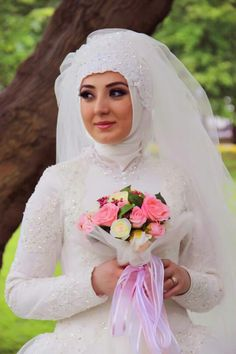 Turkish bride style . (With hijab) #bride #wedding
