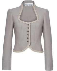Silk&Pearls Walkjacke in taupe