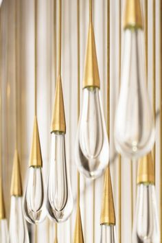 "The Raindrop chandelier, ""The Pour"" is a light sculpture DH Liberty was commissioned to design in Tribeca, New York City"