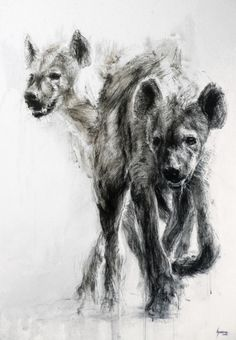Discover great art by contemporary artist Hyane. Browse artworks, buy original art or high end prints. Animal Paintings, Animal Drawings, Art Drawings, Hyena Tattoo, Wolf Hybrid, African Wild Dog, Organic Art, Desenho Tattoo, Art Original