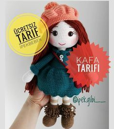 Handicraft has presented the baby amigurami paste to our advantage by posting the description of İpek Gibi amigurumi on its website. Crochet Teddy, Crochet Patterns Amigurumi, Amigurumi Doll, Crochet Baby, Crochet Disney, Knitted Dolls, Crochet Dolls, Amigurumi For Beginners, Free Pattern