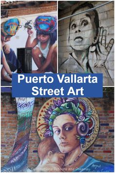 Puerto Vallarta Street Art: the amazing street art in Puerto Vallarta, Mexico #PuertoVallarta #streetart Mexico Vacation, Mexico Travel, Beautiful Places To Visit, Cool Places To Visit, Central America, North America, Travel Guides, Travel Tips, Tour Around The World