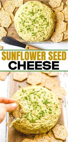 This Vegan Cheese recipe is so easy to make. We show you step by step how to make this tasty dairy free vegan cheese. The whole family will love it! Vegan Cheese Recipes, Dairy Free Recipes, Low Carb Recipes, Real Food Recipes, Vegetarian Recipes, Easy Recipes, Gluten Free, Sunflower Seed Cheese Recipe, Homemade Crackers