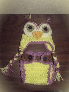 Newborn Owl hat and Diaper Cover by NStitchesCrochet on Etsy, $25.00