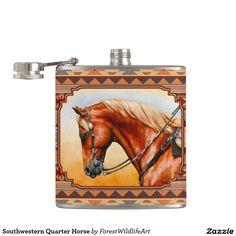 Southwestern Quarter Horse Flasks