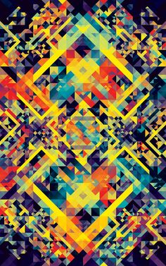 We really like this colourful #pattern by Andy Gilmore. #art #inspiration