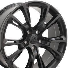 "Wheels for Chrysler - 20"" Fits Jeep - Grand Cherokee SRT8 Wheels - Matte Black 20x8.5 Set"