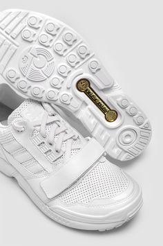ADIDAS X JUUN.J ZX 8000 Low JJ White Leather Sneakers