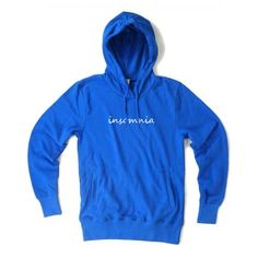insomnia blue color Hoodies