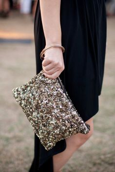 Streetstyle. Sequin Paillettes Clutch. Shop online at www.balyme.com