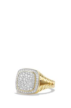 Swooning over this David Yurman ring that sparkles in 18-karat yellow gold and diamonds.