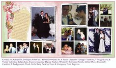 For our wedding book a 2 pg LO from our dating life.