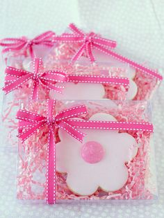 Cute cookie packging. I have hand and foot cookie cutters perfect for baby shower party favor.