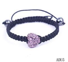 $2.38  Pink Love Heart Crystal Bracelets Jewelry Gift Nylon