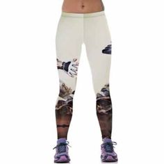 7cb2ccd0128 Hot!! High Elastic Sporting Leggings Women Fitness Workout Pants New 3D  Print Super Absorbent Wicking Slim Women Legging