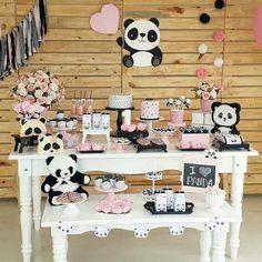 44 Ideas baby shower ides decoracion panda for 2020 Panda Themed Party, Panda Birthday Party, Panda Party, Baby Birthday, Birthday Party Themes, Panda Baby Showers, Baby Boy Shower, Panda Love, Cute Panda