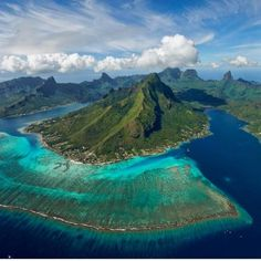 Spectacular aerial capture of the island of Moorea courtesy of...