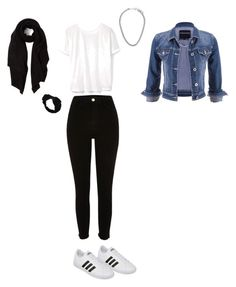"""The look "" by loulou-leilou on Polyvore featuring mode, River Island, adidas, MANGO, maurices, Johnny Loves Rosie et Cash Ca"