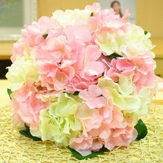silk flower sphere bouquet | ... flowers Wedding Bride 's Bouquet Silk Artificial Ball Throwing Flowers