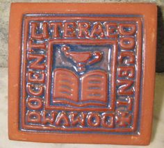 1 Moravian Ceramic Tile   Literature by StarPower99 on Etsy, $14.00