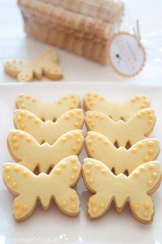 butterflies cookies | caramel cookie