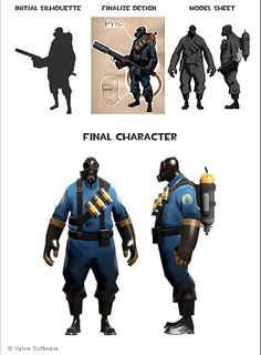 team fortress character design - Google Search