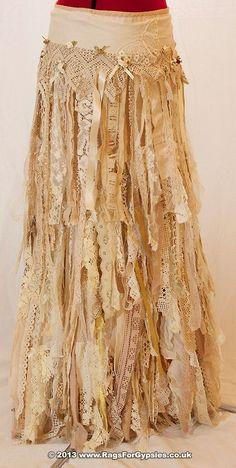 shredded skirt