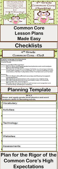 Common core i can statements on pinterest common cores for Lesson plan template using common core standards