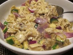 Skillet Pasta and Vegetables for 8 Weight Watchers Smart Points or 5.25 Winning Points