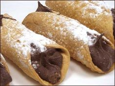 Nutella canolli, use wonton dough, nutella and whipped cream