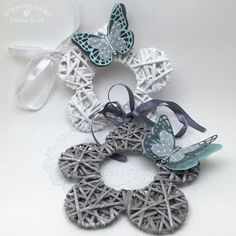 Stampin Up-Stempelherz-Fruehlingskranz-Spring-Schmetterling-Butterfly 01 Craft Projects For Kids, Crafts To Do, Hobbies And Crafts, Decor Crafts, Willow Weaving, Basket Weaving, Recycled Magazines, Paper Weaving, Paper Tree