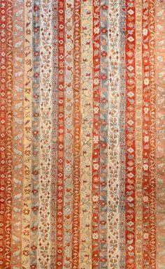 Antique Turkish Oushak Rug -beige-geometric-botanical   BB3886 - 16x12