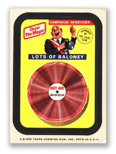 Wacky Packages Topps 14th Series: Oscar Mayor Baloney