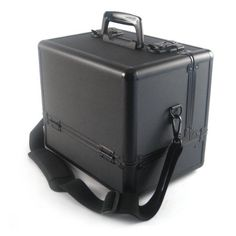 """Make-Up Pro Case Black by Monda Studio. $75.00. This Case Is An Artist Favorite, Features 3 Accordion Trays And A Large Bottom Compartment With Dividers. Aluminum Frame With Over Locking Latches And Keys. Should Strap For Easy Mobility. Dimensions: 33 x 9 x 12"""" Trays: 7 x 10 x 1 ½"""" Deep Well: 11 x 8 x 3"""" Full Tray Height: 13"""" Full Drawer Extension: 33"""" Weight: 7 lbs"""