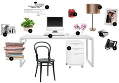 Elegant Feng Shui Desk Placement