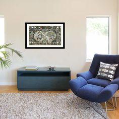 "iCanvas ""The Tree of Life"" by Gustav Klimt Framed Canvas Print (Pewter - x x Silver Framed Canvas Prints, Canvas Artwork, Canvas Frame, Antique World Map, Gustav Klimt, Wood Bars, Dark Wood, Rustic Furniture, Rustic Decor"