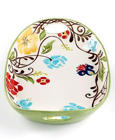 Vida by Espana Jardine collection bowl with handles - Macy's