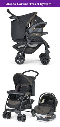 Chicco Cortina Travel System, Minerale. Designed for the Chicco KeyFit 30 Infant Car Seat, the Cortina Stroller works as a travel system for your infant and a full-size stroller for your growing baby. KeyFit 30:One-pull harness tightening and loosening in the car seat allow for quick fitting, and the thickly-padded infant insert gives extra support for a smaller baby around the head, neck, back and bottom. The shell is lined with energy absorbing foam, and the vehicle base features an...