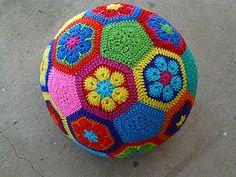 African Flower Soccer Ball by Leslie Stahlhut