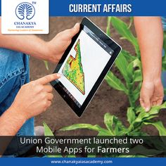 Union Government launched two Mobile Apps for Farmers For the benefit of farmers, Union Agriculture & Farmers Welfare Minister Radha Mohan Singh launched two mobile apps namely #CropInsurance and #AgriMarket Mobile. The apps were launched to celebrate the birth anniversary of former Prime Ministers Atal Bihari Vajpayee and Choudhary Charan Singh. Their birthday will be celebrated by organizing Kishan Jai Vigyan Week.
