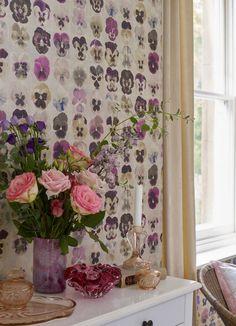 Teenage Girl Room Decor, Girl Decor, Harlequin Wallpaper, Pink Wallpaper, Marimekko Wallpaper, Designers Guild Wallpaper, Pansies, Floral Prints, Pansy Flower